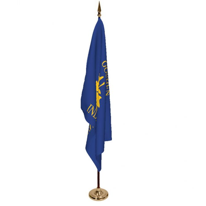 Indoor City of Goshen Ceremonial Flag Set