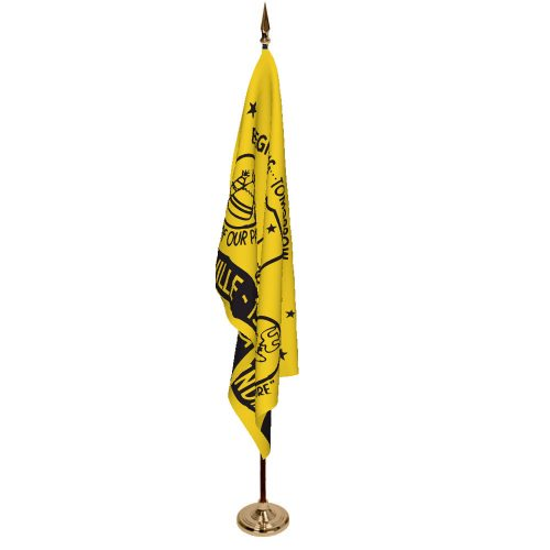Indoor City of Lakeville Ceremonial Flag Set