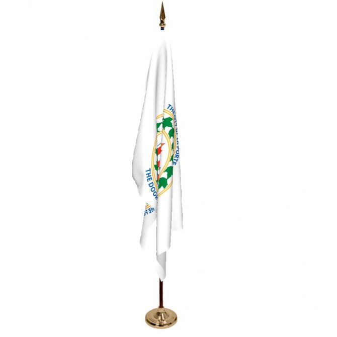 Indoor City of Laporte Ceremonial Flag Set