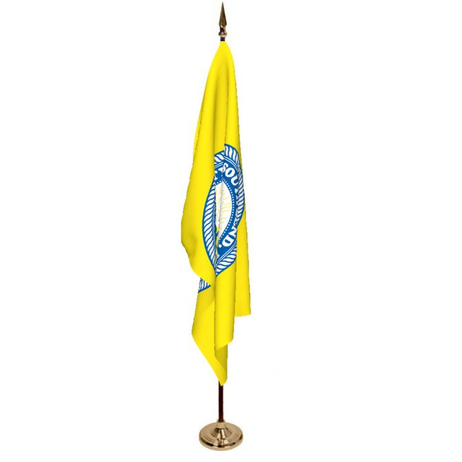 Indoor City of South Bend Ceremonial Flag Set