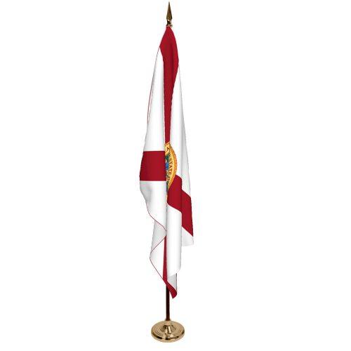 Indoor Florida Ceremonial Flag Set