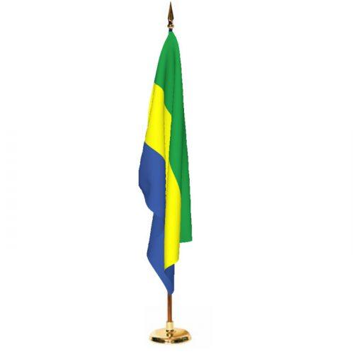Indoor Gabon Ceremonial Flag Set