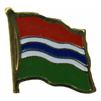 Gambia Flag Lapel Pin