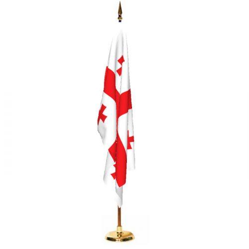Indoor Georgia Republic Ceremonial Flag Set