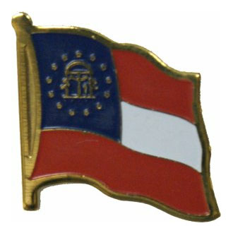 Georgia State Flag Lapel Pin