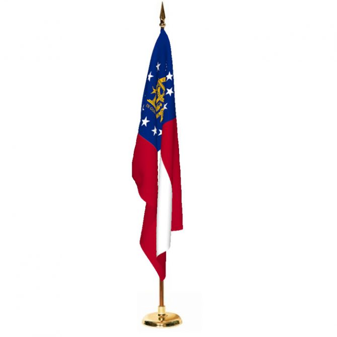 Indoor Georgia Ceremonial Flag Set