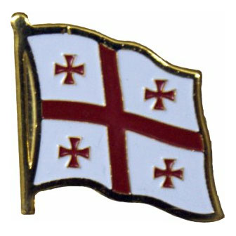 Georgia Republic Flag Lapel Pin