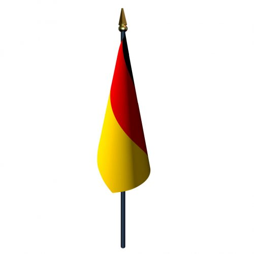 Germany Flag with Staff and Spear