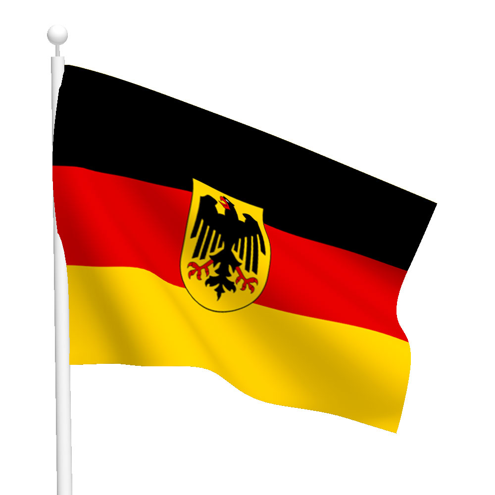 Germany With Seal Flag Heavy Duty Nylon Flags Flags