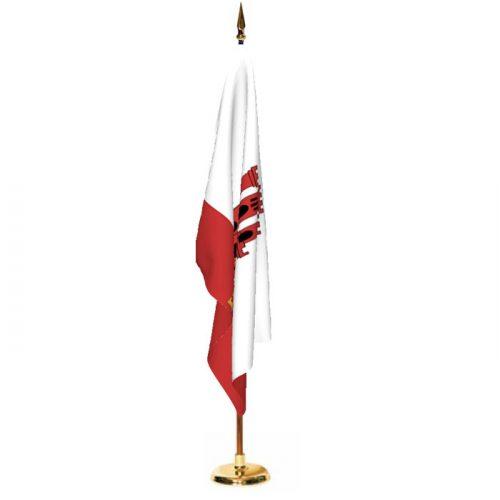 Indoor Gibraltar Ceremonial Flag Set