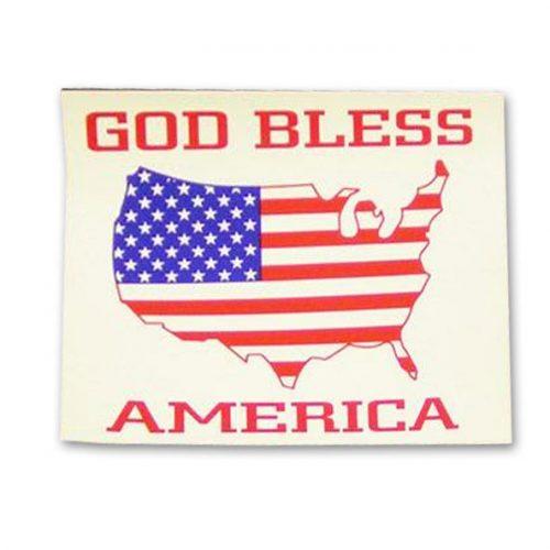 God Bless America Flag Sticker