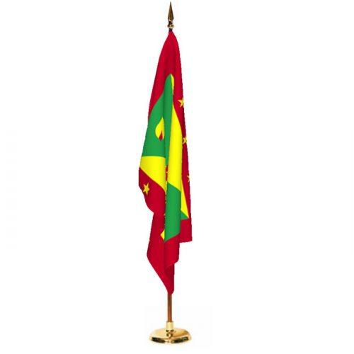 Indoor Grenada Ceremonial Flag Set