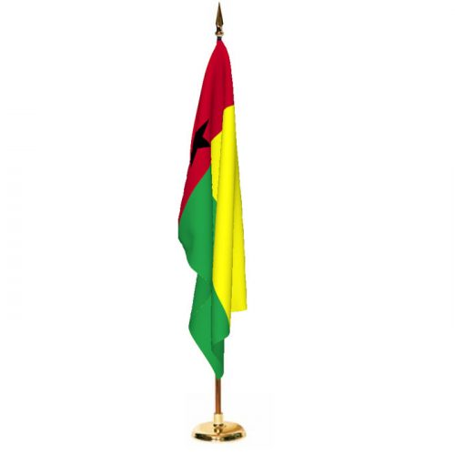 Indoor Guinea-Bissau Ceremonial Flag Set