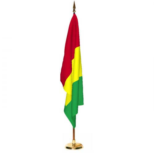Indoor Guinea Ceremonial Flag Set