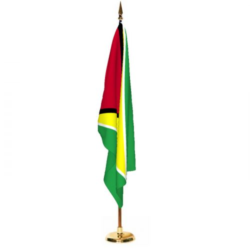Indoor Guyana Ceremonial Flag Set