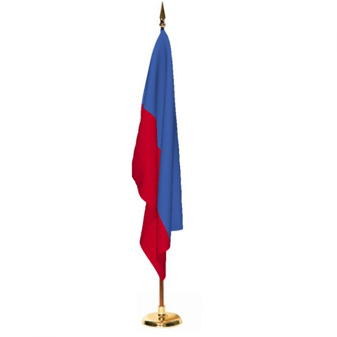 Indoor Haiti Ceremonial Flag Set