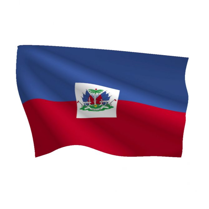 Haiti with Seal Flag