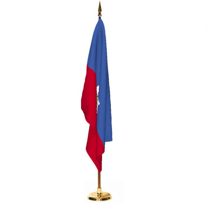 Indoor Haiti with Seal Ceremonial Flag Set