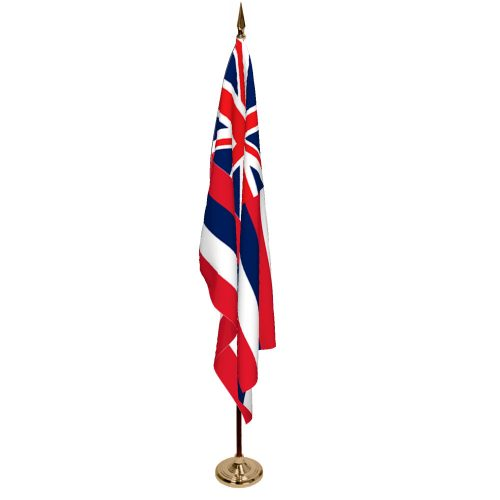 Indoor Hawaii Ceremonial Flag Set
