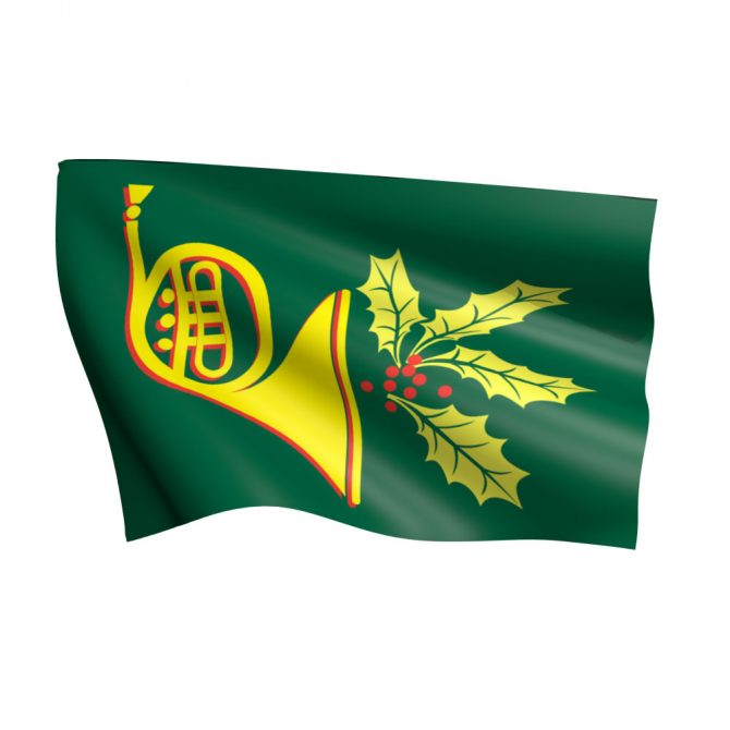 3ft x 5ft Holiday Horn Flag