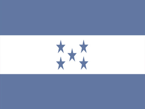 Honduras Flag with Staff and Spear