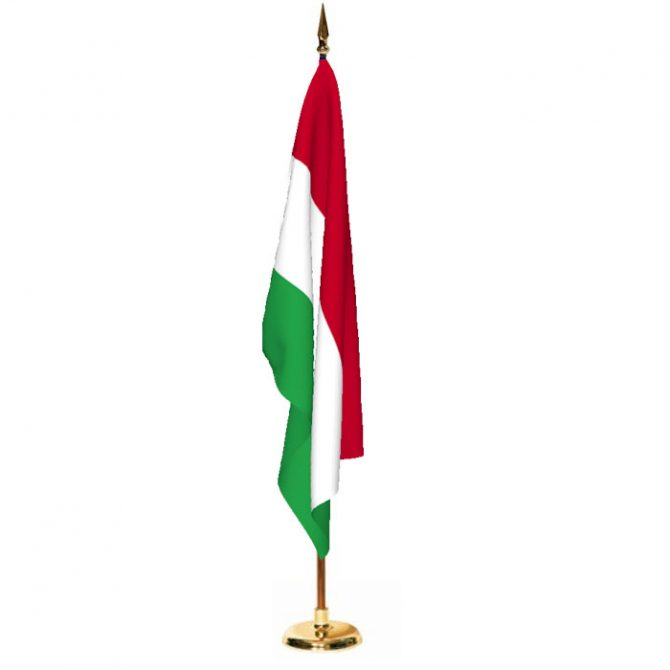 Indoor Hungary Ceremonial Flag Set