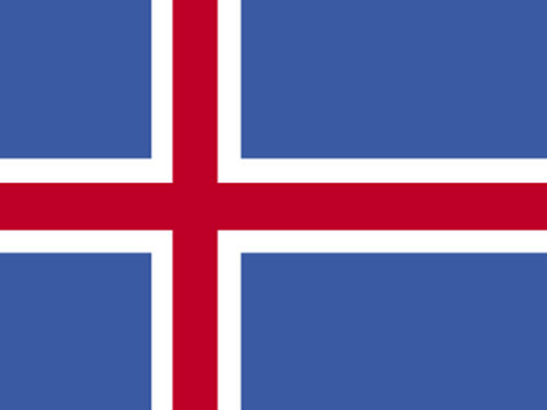 4in x 6in Iceland Flag with Staff and Spear