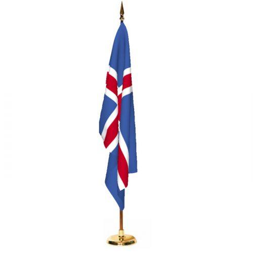 Indoor Iceland Ceremonial Flag Set
