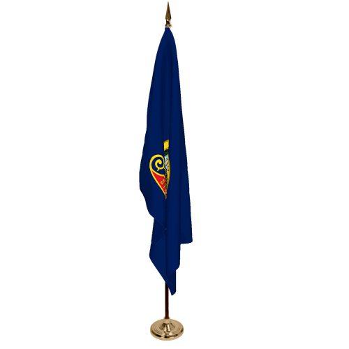 Indoor Idaho Ceremonial Flag Set
