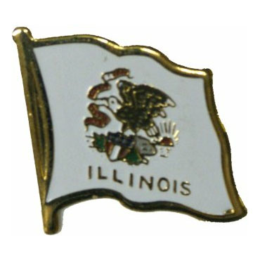 Illinois Flag Lapel Pin
