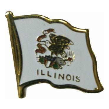 Illinois Flag Lapel Pin