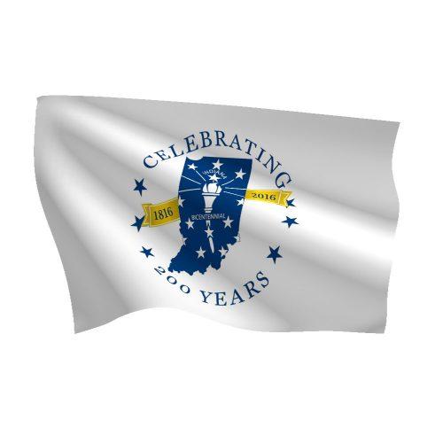 Indiana Bicentennial Flag