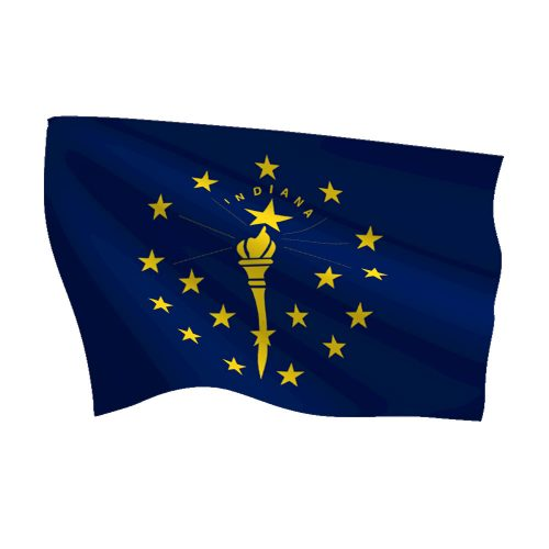 Indiana Heavy Duty Polyester Flag