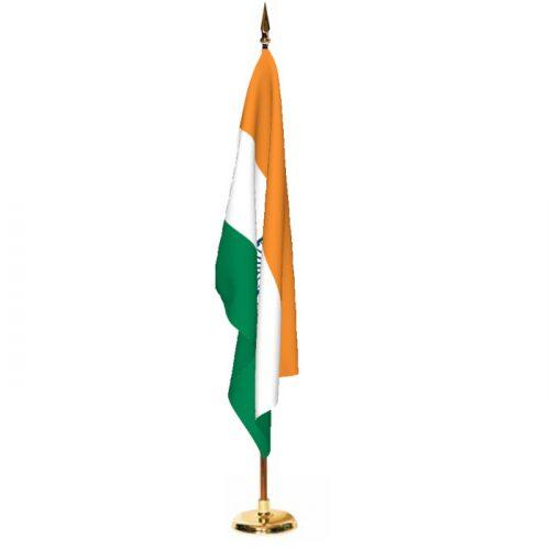 Indoor India Ceremonial Flag Set