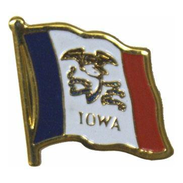 Iowa Flag Lapel Pin