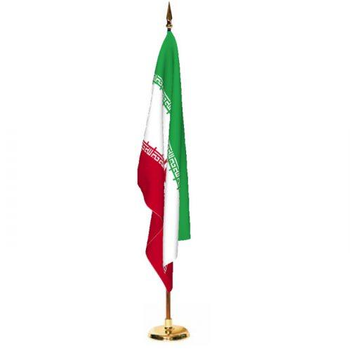 Indoor Iran Ceremonial Flag Set