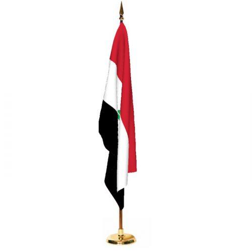 Indoor Iraq Ceremonial Flag Set