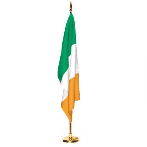 Indoor Ireland Ceremonial Flag Set