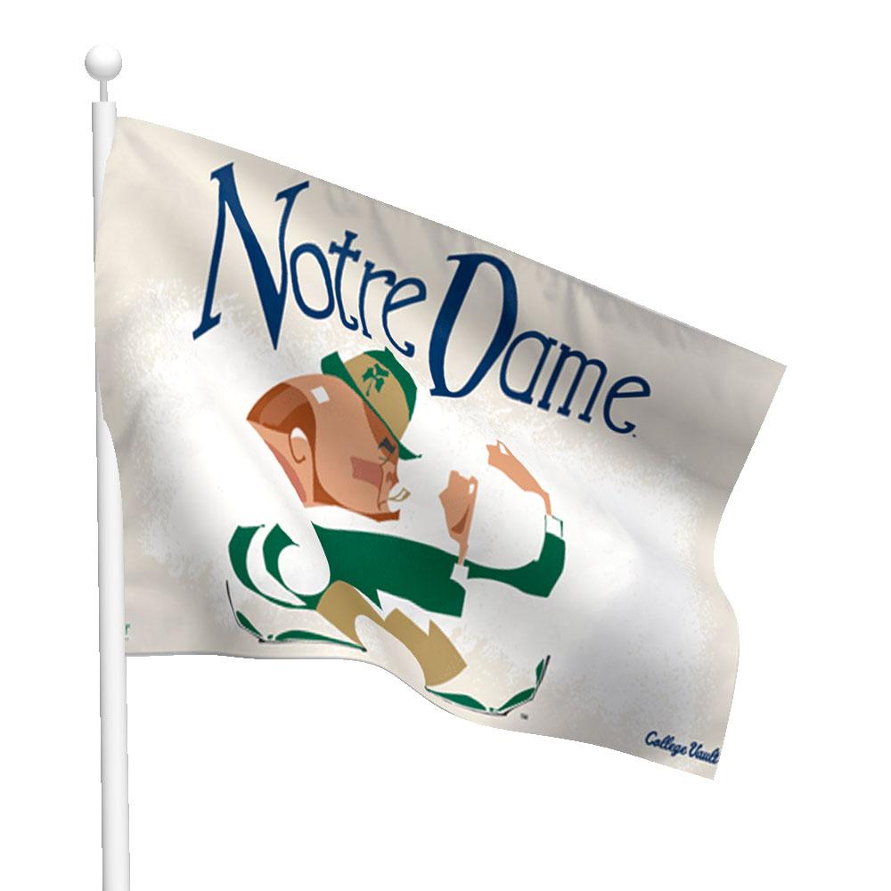 Notre Dame Leprechaun Vault Flag