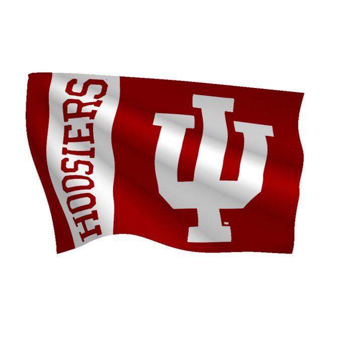 Indiana University Polyester Flag