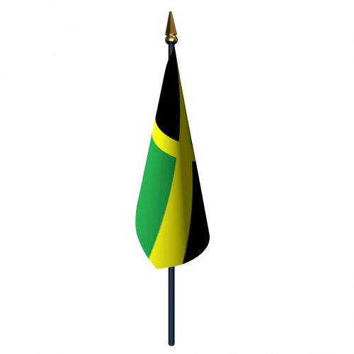 Jamaica Flag with Staff and Spear