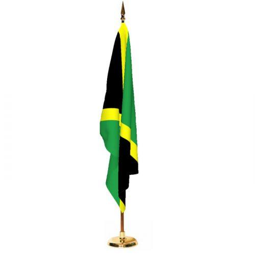 Indoor Jamaica Ceremonial Flag Set