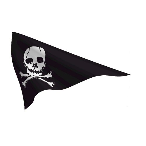 Nylon 10in x 15in Jolly Roger Pennant