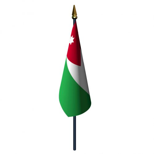 4in x 6in Jordan Flag with Staff and Spear