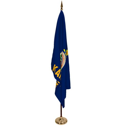Indoor Kansas Ceremonial Flag Set