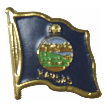 Kansas Flag Lapel Pin