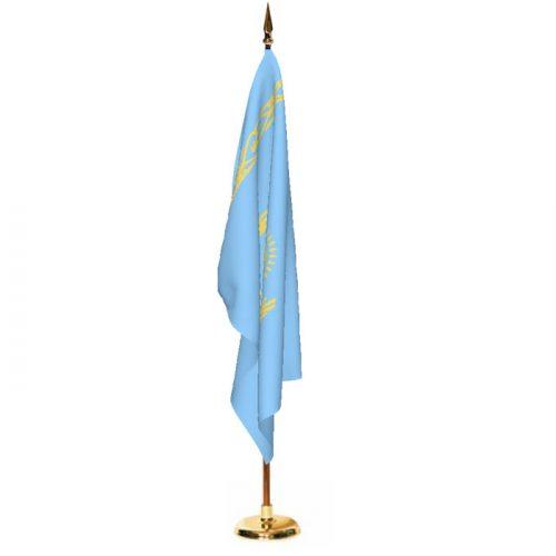 Indoor Kazakhstan Ceremonial Flag Set