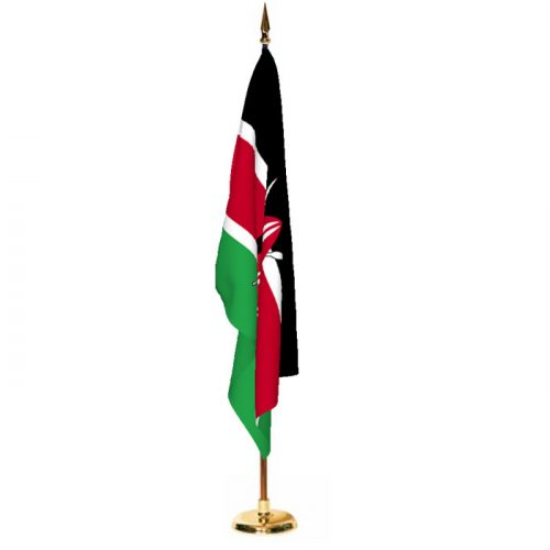 Indoor Kenya Ceremonial Flag Set