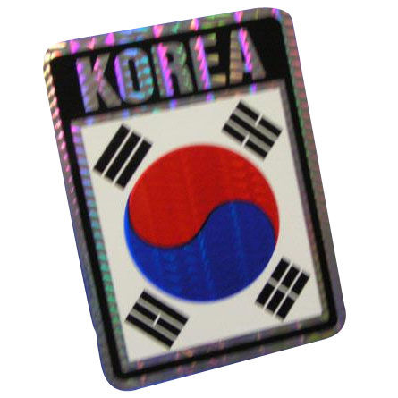 Vinyl Metallic South Korea Decal