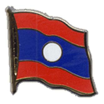 Laos Flag Lapel Pin